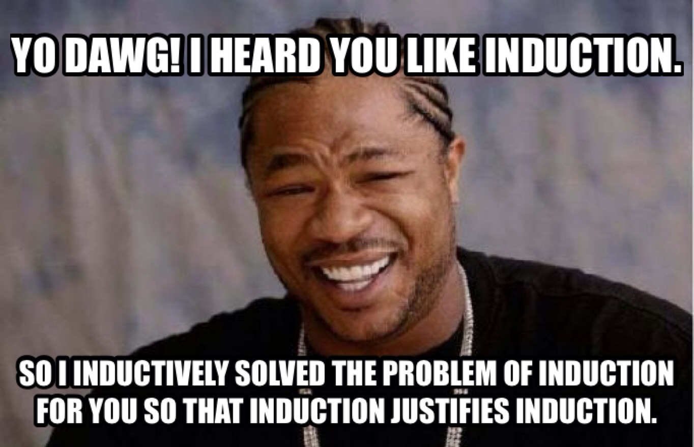 Funny Meme Questions : Problem of induction vexing questions